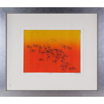 Pro Hart (1928-2006), Ants, Coloured Etching