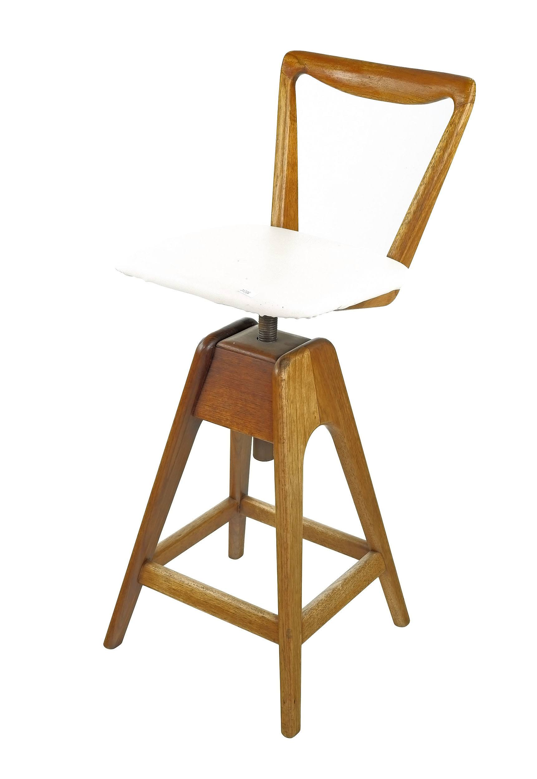 'T.H. Brown Tasmanian Blackwood Adjustable Stool'