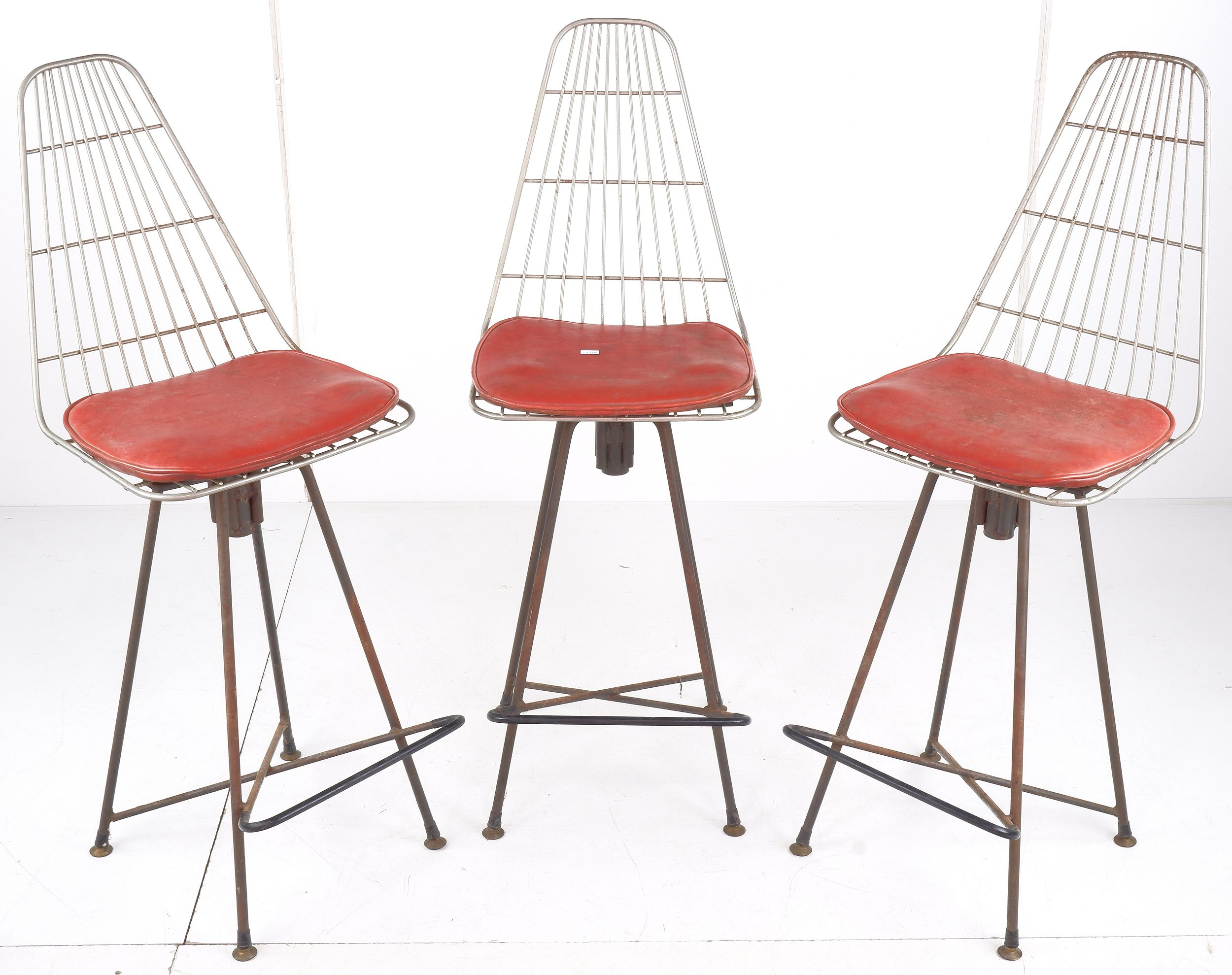 'Trio of Vintage Framac Bar Stools'