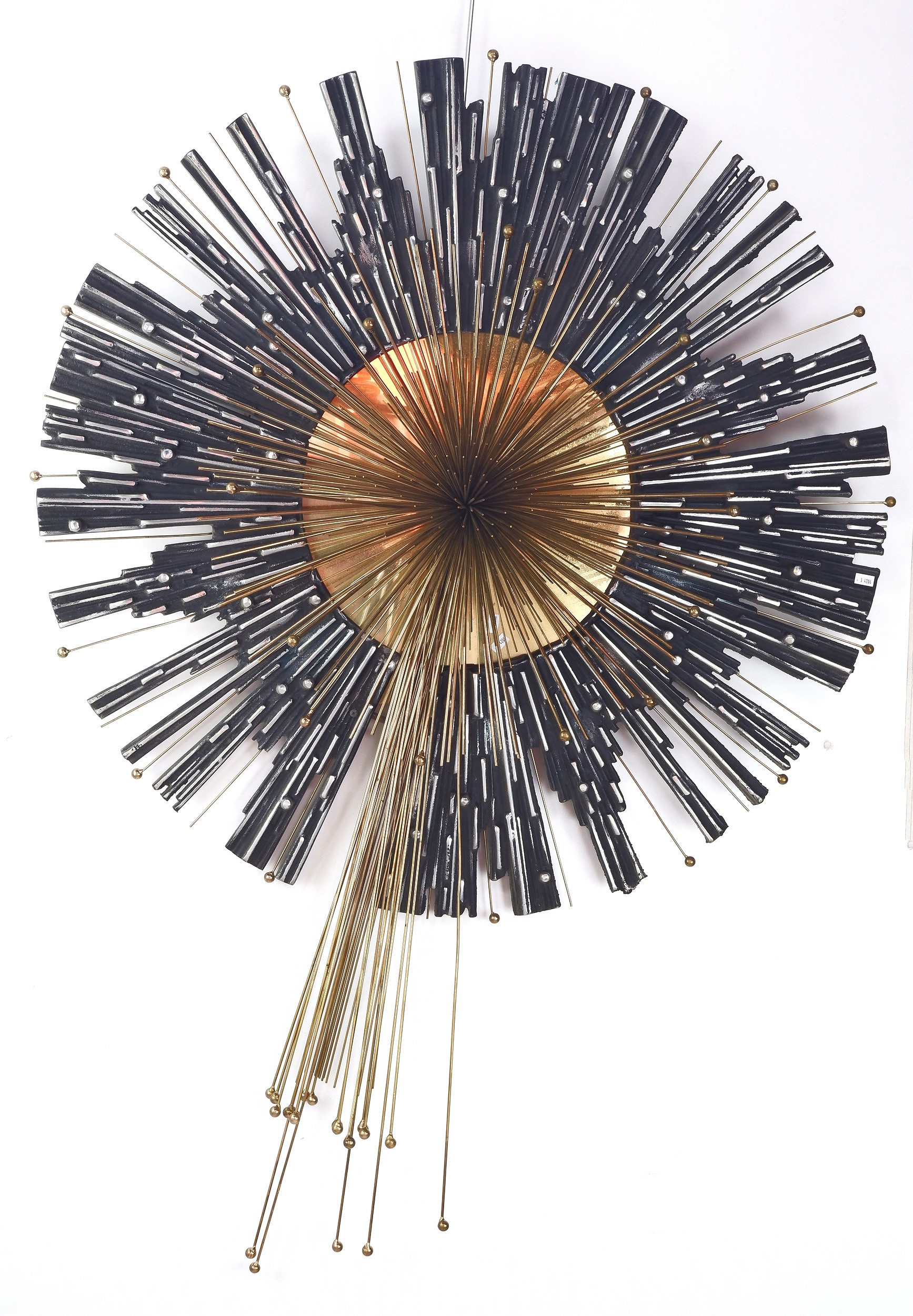 'Large Curtis Jere Cast Metal Starburst Sculpture, Circa 1987'