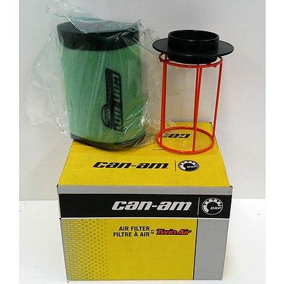 Can-Am 715001333 Twin Air ATV Foam Air Filter  -Brand New- RRP- $73.49