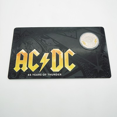 2018 ACDC 45 Years of Thunder 50 Cent Carded Coin