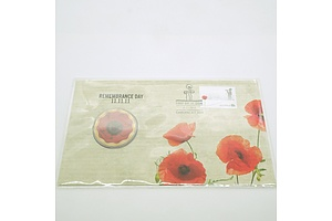 Remembrance Day First Day of Issue Postcard with $5 Commemorative Coin