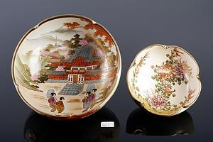Two Japanese Satsuma Bowls, 20th Century
