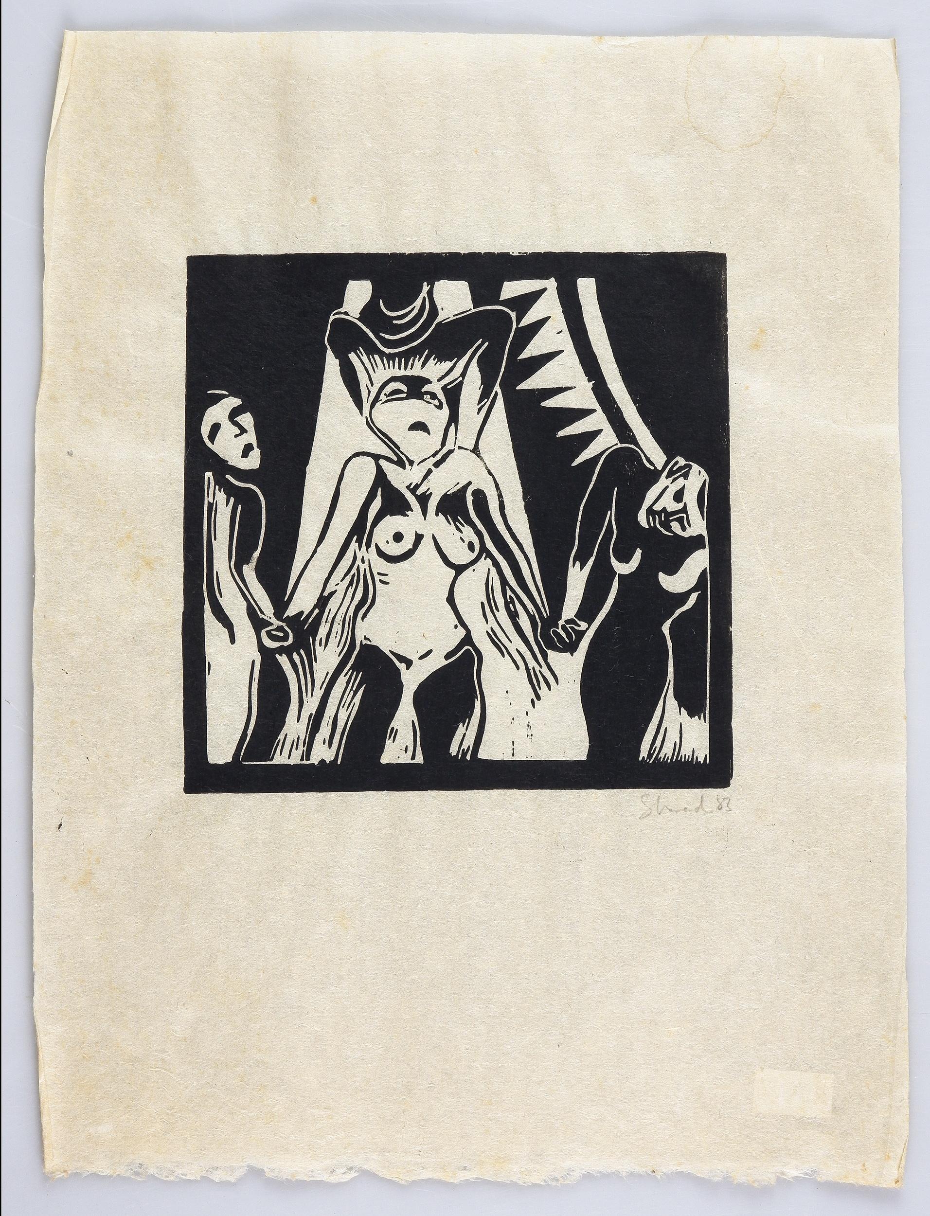 'Garry Shead (born 1942), The Circus Series 1983 (5), Linocut'