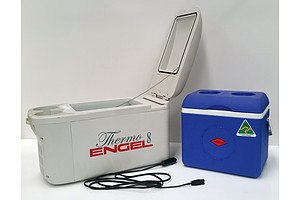 Small Thermo 8 Engel Car Fridge And Small Willow Esky