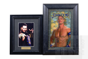 Framed John Cena 3D Image and Jeff Hardy Photograph (2)