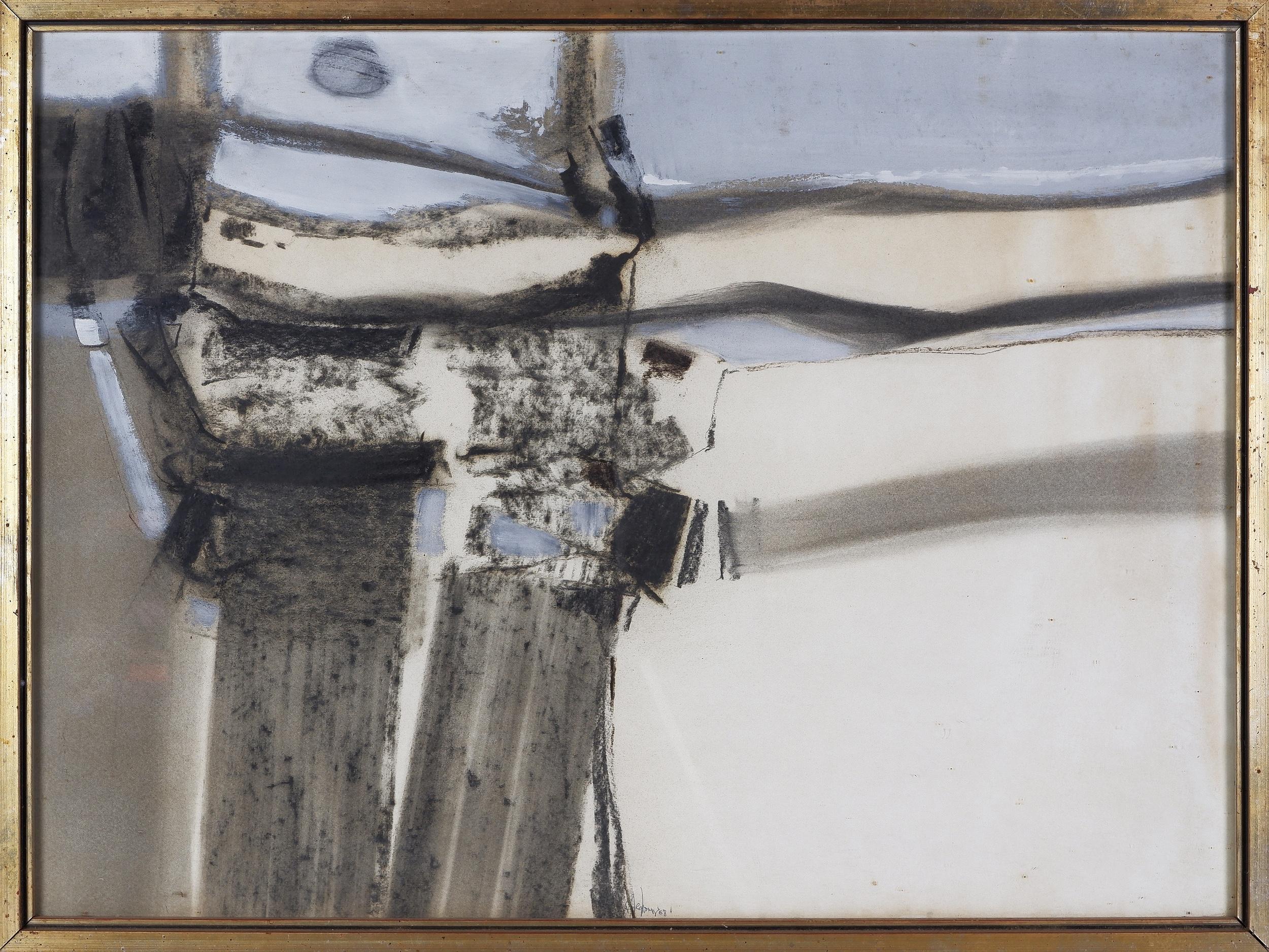 'Thomas Gleghorn (born 1925), Untitled (Abstract) 1968, Mixed Media on Paper'