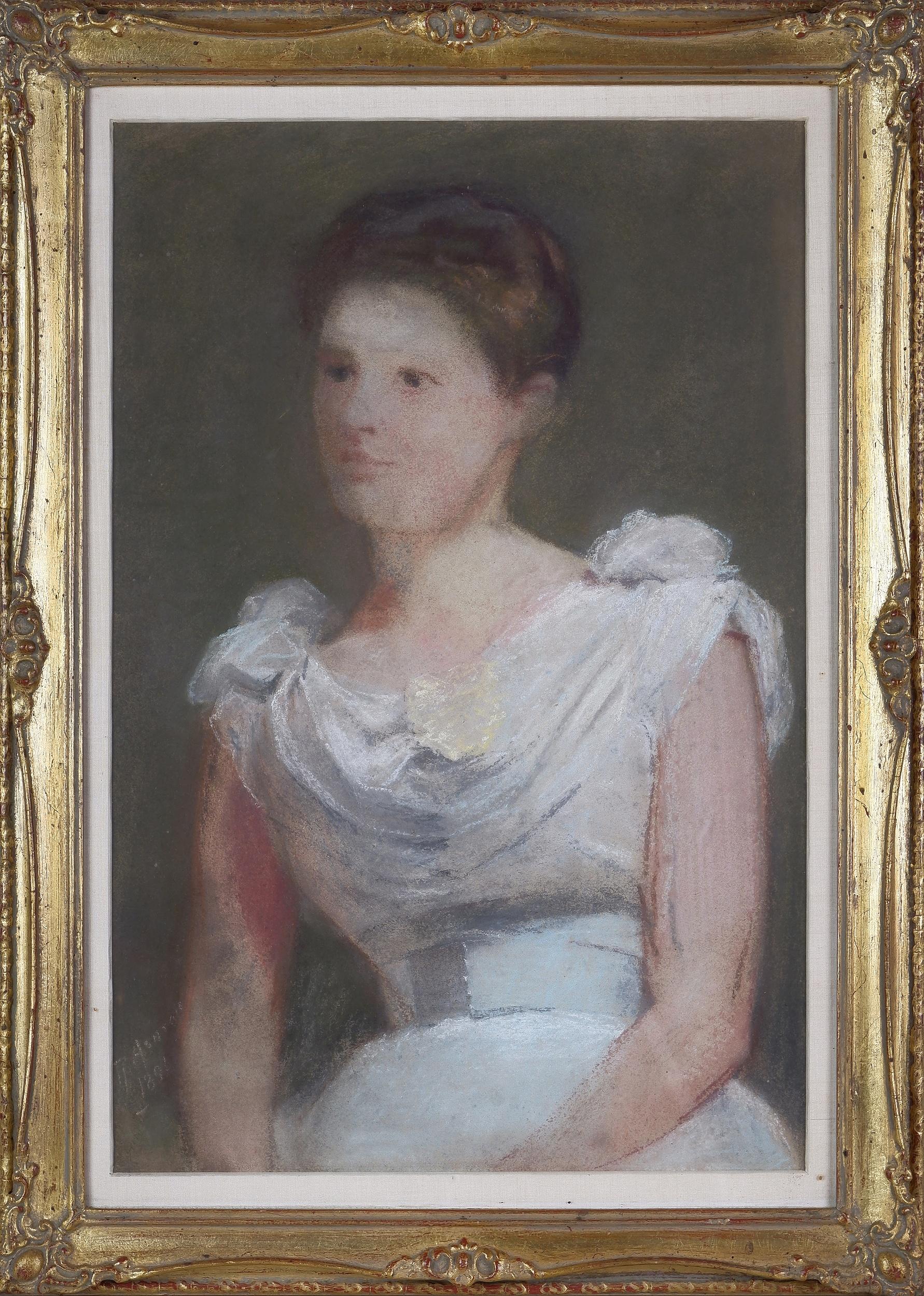'Julian Rossi Ashton (1851-1942), (Possibly) Portrait of Dame Nellie Melba 1891, Pastel on Paper'