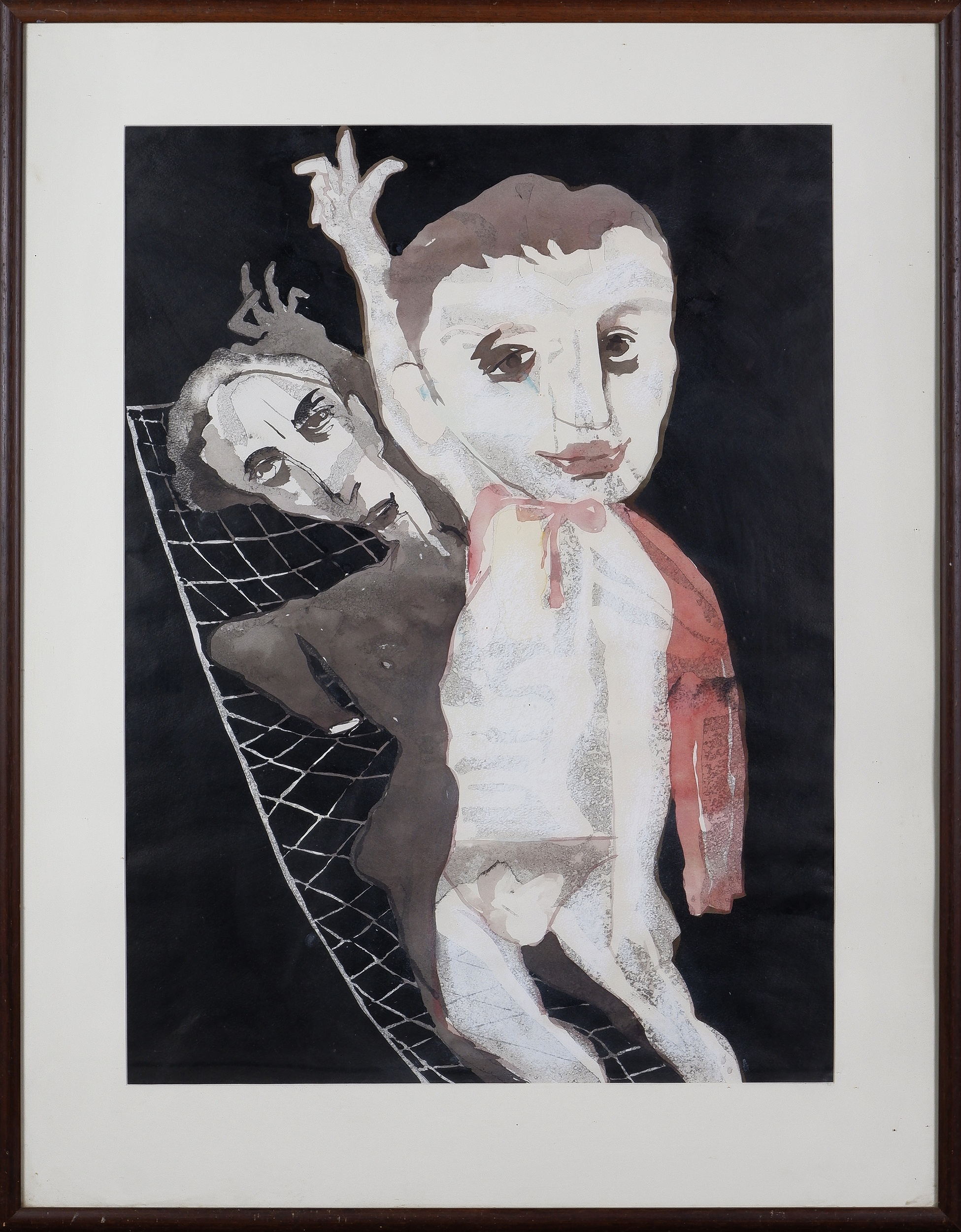 'Andrew Sibley (1933-2015), End of the Show, Watercolour on Paper'
