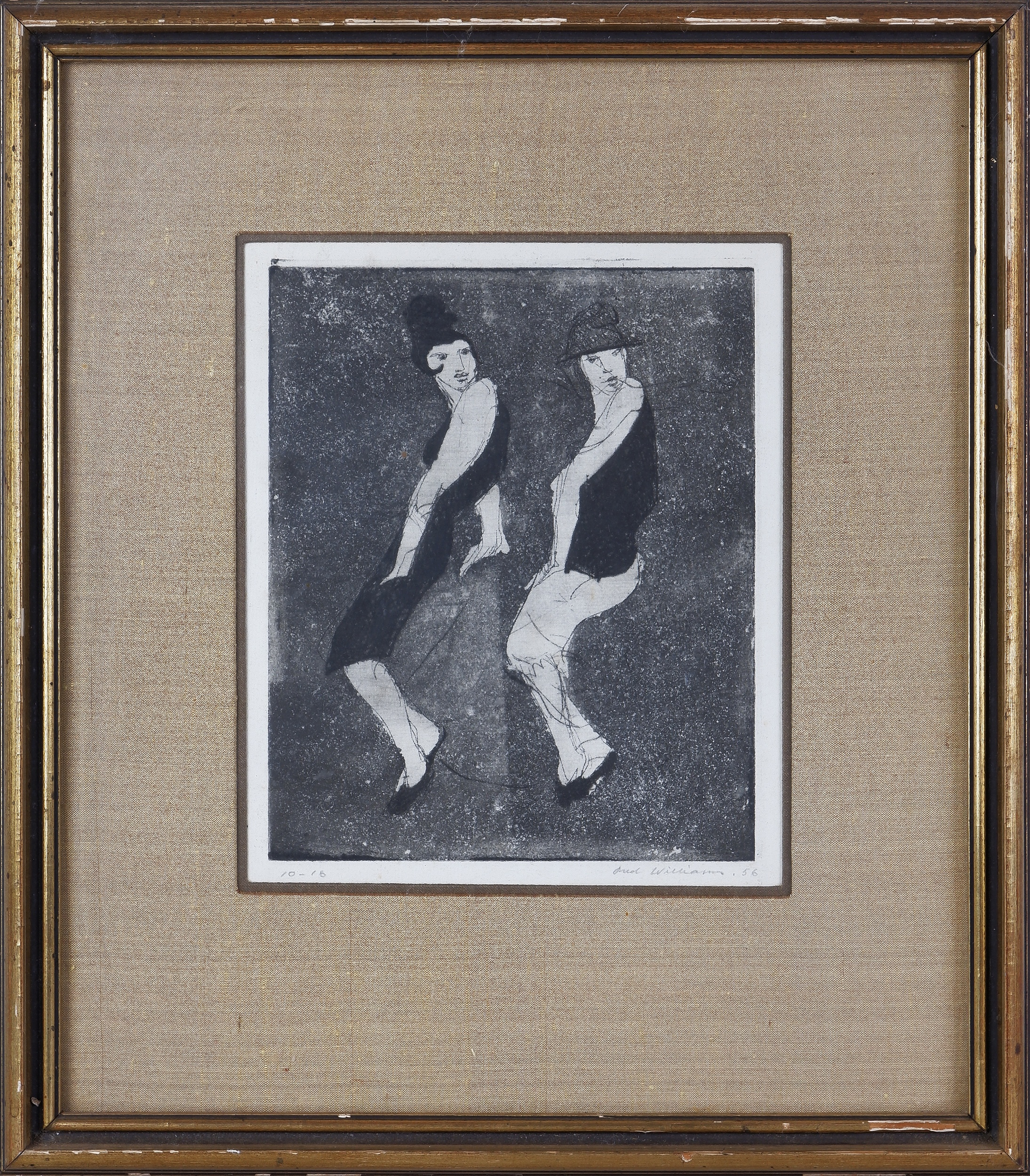 'Fred Williams (1927-1982), The Boyfriend, Etching, Aquatint, Engraving and Drypoint on Paper'