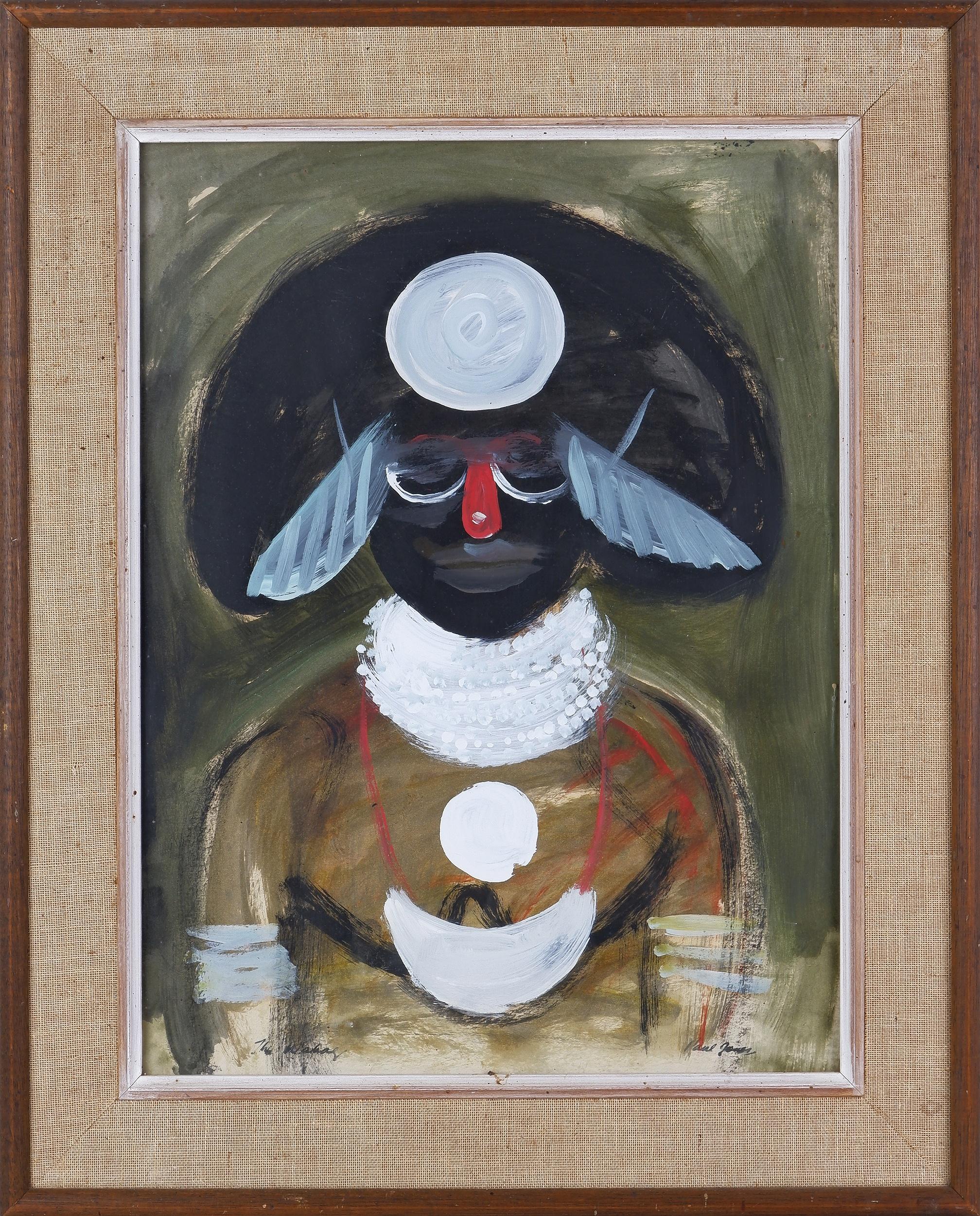 'Paul Jones (1921-1997), Wabag, New Guinea, Oil On Paper'