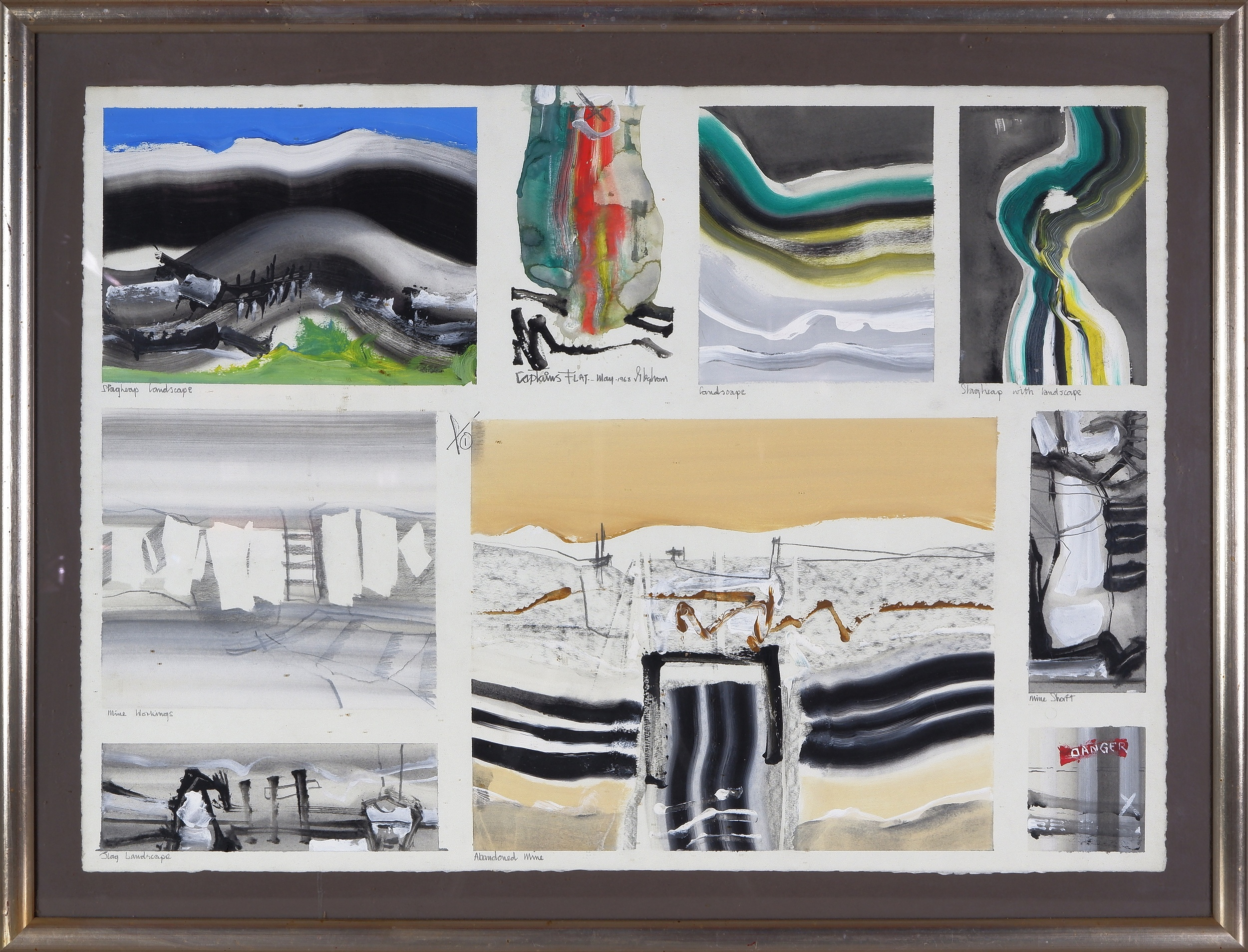 'Thomas Gleghorn (born 1925), Captains Flat Landscape Series 1968,  Oil on Paper'