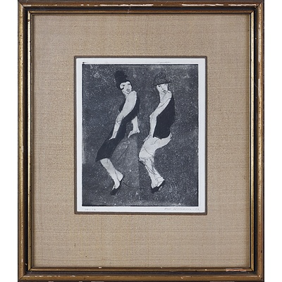 Fred Williams (1927-1982), The Boyfriend, Etching, Aquatint, Engraving and Drypoint on Paper