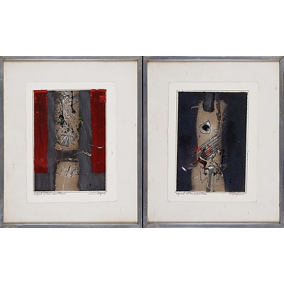 Thomas Gleghorn (born 1925), Legend of the Green Man (diptych), Mixed Media on Paper