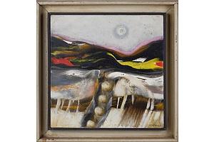 Thomas Gleghorn (born 1925), Untitled (Landscape) 1971, Oil on Canvas
