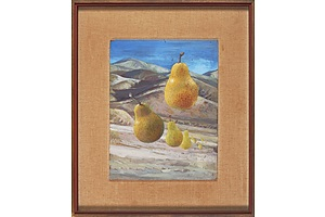 William Fletcher (1924-1983), Travelling Pears, Oil on Board