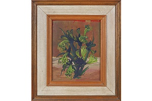 William Fletcher (1924-1983), Black Kangaroo Paw 1971, Oil on Board
