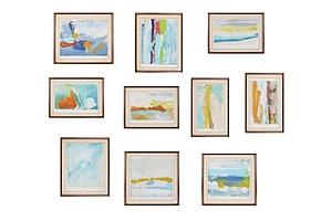 Reg Livermore (born 1938), Landscapes (10), Watercolour and Gouache on Paper
