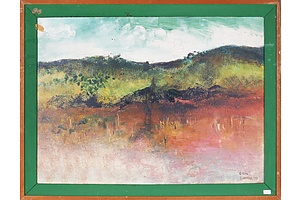Reg Livermore (born 1938), Eildon 1973, Oil on Card
