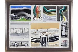 Thomas Gleghorn (born 1925), Captain's Flat Landscape Series 1968, Oil on Paper
