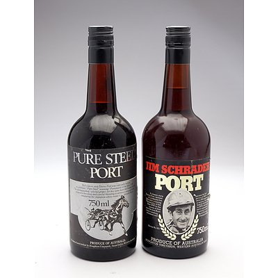 Vintage 'Pure Steel' Port and 'Jim Schrader' Port - Two Bottles (2)