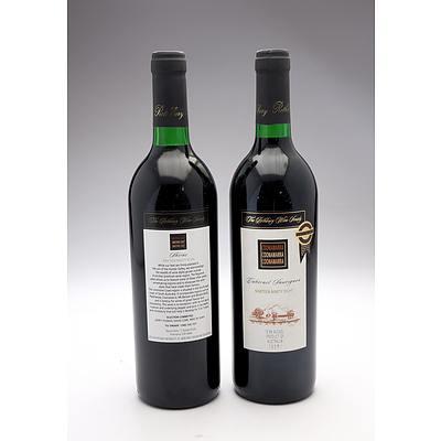 Rothbury Wine Society 1998 Coonawarra Cabernet Sauvignon and 1997 Limestone Coast Shiraz - Two Bottles (2)