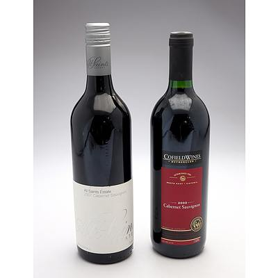 All Saints 2007 Cabernet Sauvignon and Cofield Wines 2002 Cabernet Sauvignon - Two bottles (2)