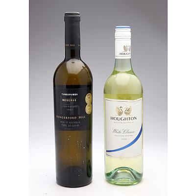 Hungerford Hill Tumbarumba Reserve 1997 Chardonnay and Houghton 2009 White Classic - Two Bottles (2)