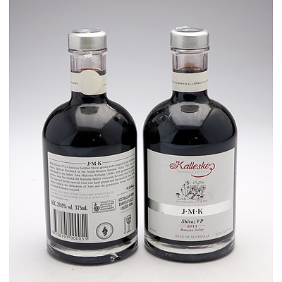 Kalleske J.M.K Fortified Shiraz VP 375mL - Lot of Two Bottles (2)