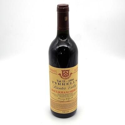 Tyrells Winemakers Selection Vat 11 1999 Baulkham Shiraz