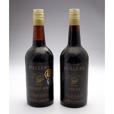 Bullers Calliope Vintage Port and Tokay 738ml - Lot of Two Bottles (2)
