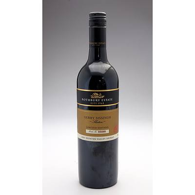 The Rothbury Estate Gerry Sissingh Selection Limited Edition Hunter Valley Shiraz - Bottle No 05409