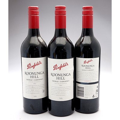 Penfolds Koonunga Hill 2011Shiraz - Cabernet Sauvignon - Lot of Three Bottles (3)