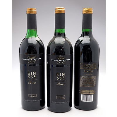 Wyndham Estate Bin 555 1998 Shiraz - Lot of Three Bottles (3)