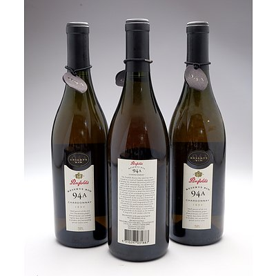 Penfolds Reserve Bin 94A 1994 Chardonnay - Lot of Three Bottles (3)
