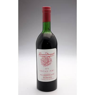 Rosewood Vineyards 1974 Vintage Port - 1 Pint 6 FL OZ