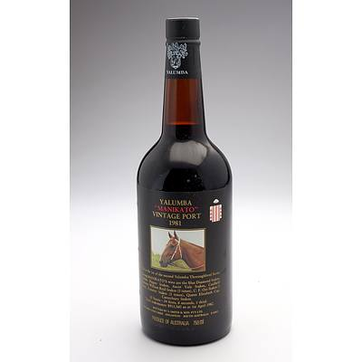 Yalumba Racing Series Vintage Port 'Manikato' 1981 - 750ml