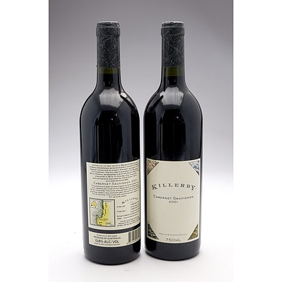 Killerby 2001 Cabernet Sauvignon - Lot of Two Bottles (2)