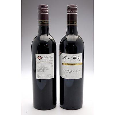 Briar Ridge Orange Region 2009 and Hunter Valley 2009 Cabernet Merlot - Lot of Two Bottles (2)