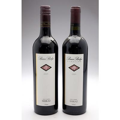 Briar Ridge Old Vines Shiraz 2003 & 2005 - Two Bottles (2)