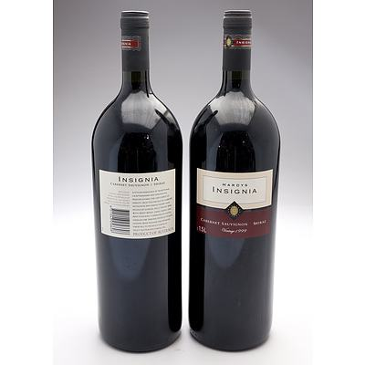 Hardys Insignia 1999 Cabernet Sauvignon Shiraz 1.5L - Lot of Two Bottles (2)