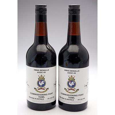 HMAS Benalla AGSC-04 Commissioning Port - Lot of Two Bottles (2)