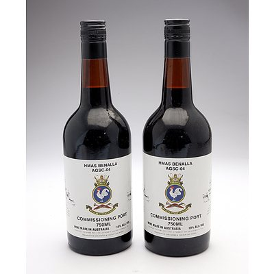 HMAS Benalla AGSC-04 Commissioning Port - Lot of Two Bottles (2)