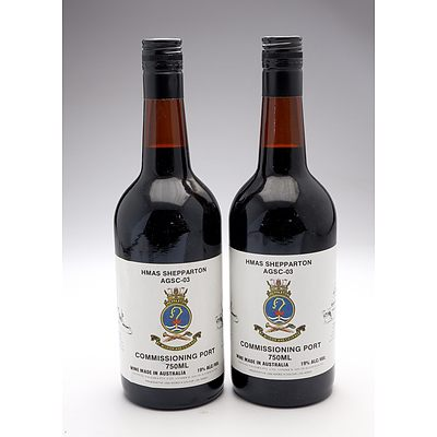 HMAS Shepparton AGSC-03 Commissioning Port - Lot of Two Bottles (2)