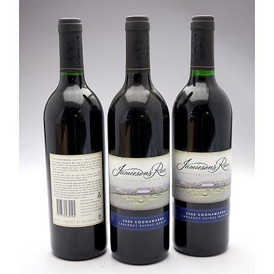 Jamiesons Run Coonawarra 2000 Cabernet Shiraz Merlot - Lot of Three Bottles (3)