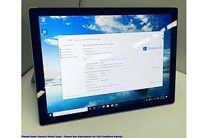 Microsoft Surface (1724) Pro 4 12-Inch 128GB Core i5 (6300U) 2.40GHz CPU 2-in-1 Detachable Laptop