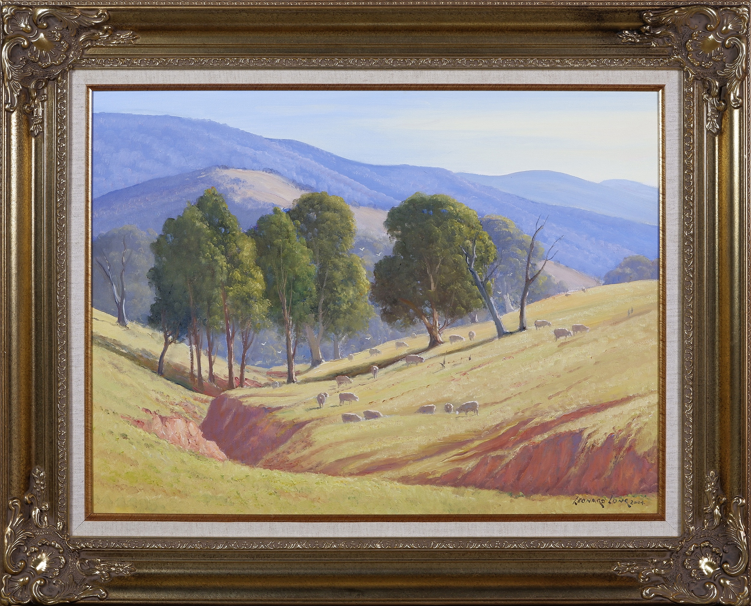 'Leonard Long (1911-1913), In the Hills At Cookmundoon, Wee Jasper, New South Wales 2004, Oil On Canvas on Board'