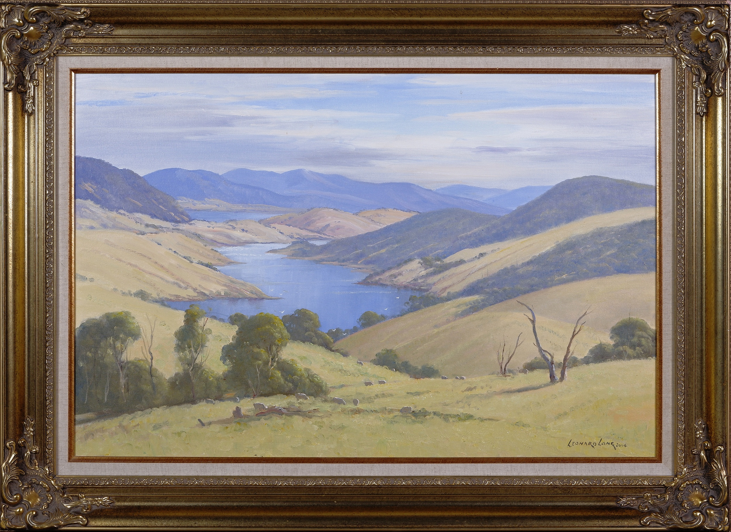 'Leonard Long (1911-2013), Across the Goodradigbee, Wee Jasper, New South Wales 2004, Oil on Canvas on Board'