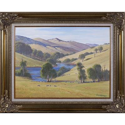 Leonard Long (1911-2013), Mountain Creek, Wee Jasper - Yass Road 2004, Oil on Canvas on Board, 45 x 60 cm